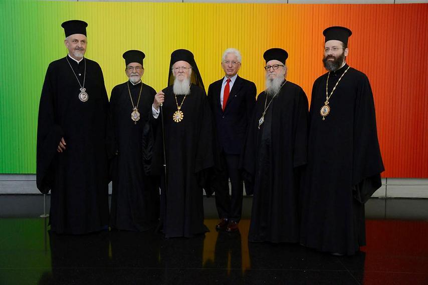 ביקור הפטריאך ברתלומיאו ופמלייתו במוזיאון (  )