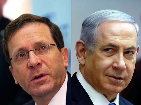 Herzog and Netanyahu. (Photo: Reuters)