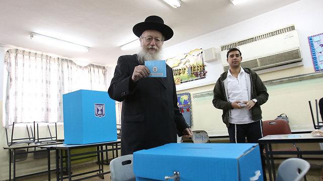 Agudat Yisrael leader Yaakov Litzman (Photo: Noam Rivkin Panton)