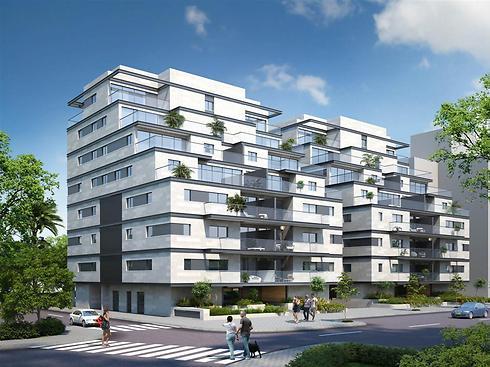 הדמיית הפרויקט החדש. יכלול 36 דירות (הדמיה: א.א סטודיו) (הדמיה: א.א סטודיו)