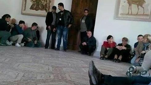 Tourists held up at Tunisian museum. (Photo: Al Jazeera)