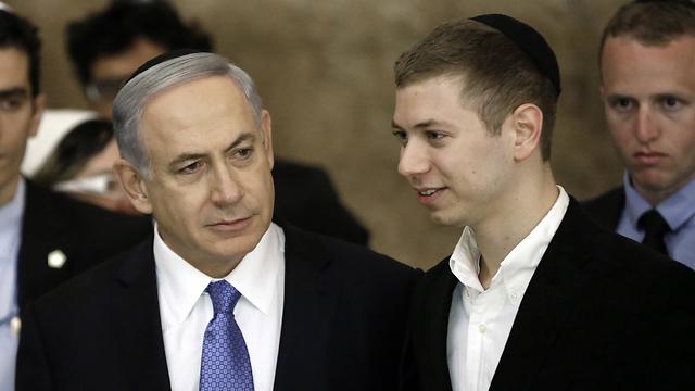 Benjamin and Yair Netanyahu (Photo: Moti Lavton)