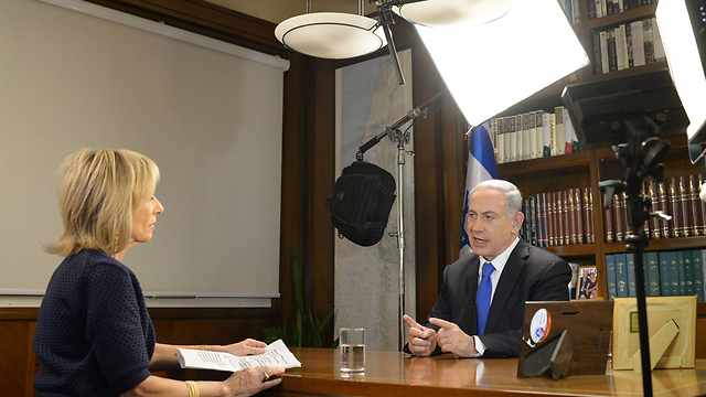 Netanyahu and Mitchell (Photo: GPO) (Photo: Amos Ben-Gershom/GPO)