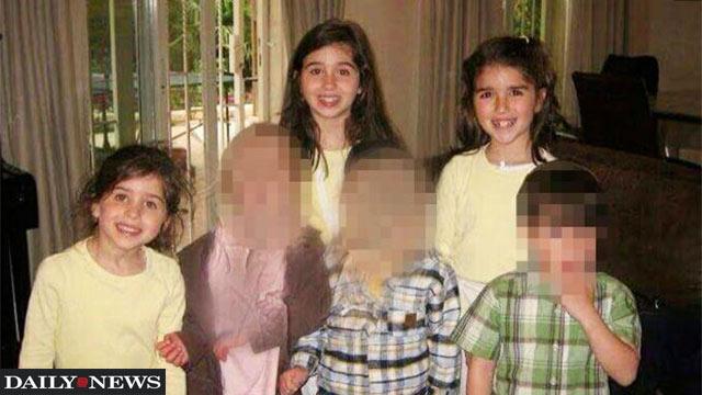 ציפורה (בת 15, מימין למעלה) שרדה את האסון. אליען (בת 16, במרכז) ורבקה (בת 10, משמאל) נספו  ()