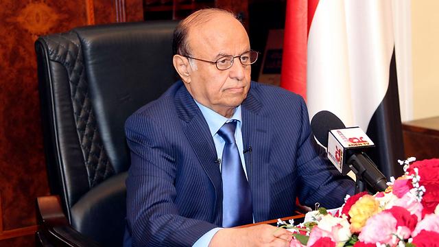 President Hadi speaks in Aden. (Photo: Reuters)