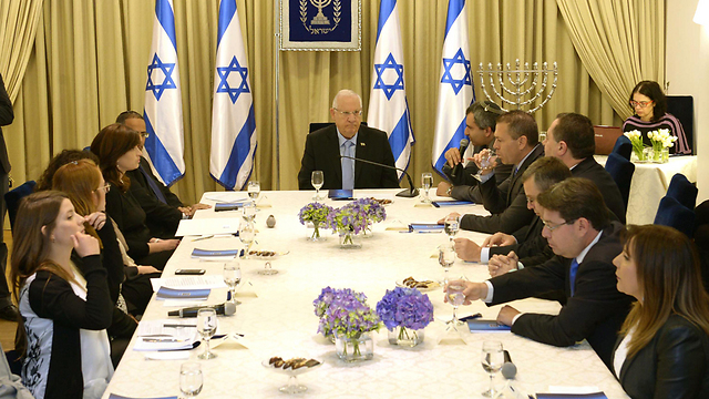 President Rivlin meets with Likud representatives for consultations on the next government (Photo: Mark Neiman, GPO)