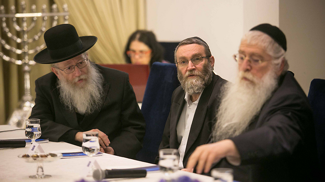 Haredi politicians (Photo: Noam Moskovich)