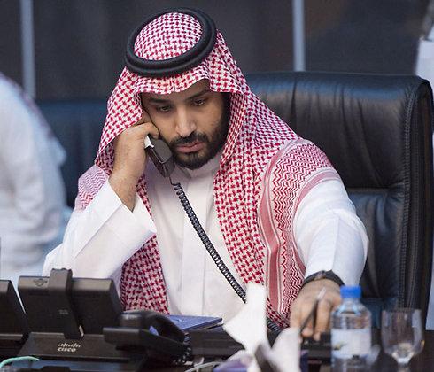 בתואר הוא יורש העצר, אבל בפועל הוא מנהיגה של סעודיה. מוחמד בן סלמאן ()
