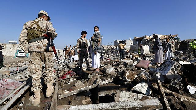 Wreckage from Saudi airstrikes in Yemen (Photo: EPA)