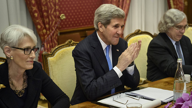 US negotiating team for Iran talks: Under Secretary of State for Political Affairs Wendy Sherman, Secretary of State John Kerry and Secretary of Energy Ernest Moniz (Photo: AP)