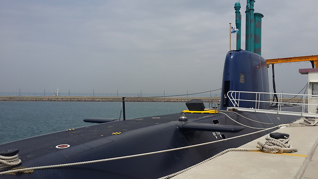INS Tanin at dock in Haifa (Photo: George Ginsburg)