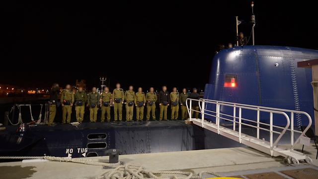INS Tanin crew (Photo: IDF Spokesperson's Unit)