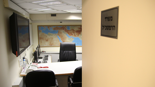 A peek into the IDF chief's office (Photo: Eli Segal)