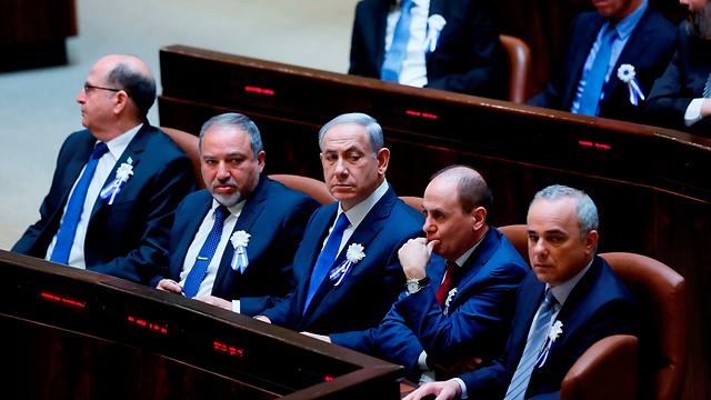 נתניהו עם ליברמן בטקס השבעת הכנסת (צילום: דוברות הכנסת) (צילום: דוברות הכנסת)
