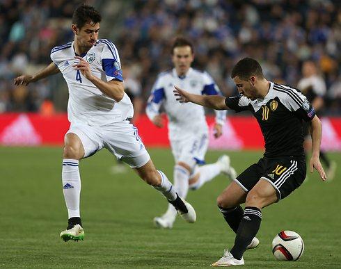 Israel National Football team plays Belgium (Photo: Oren Aharoni)