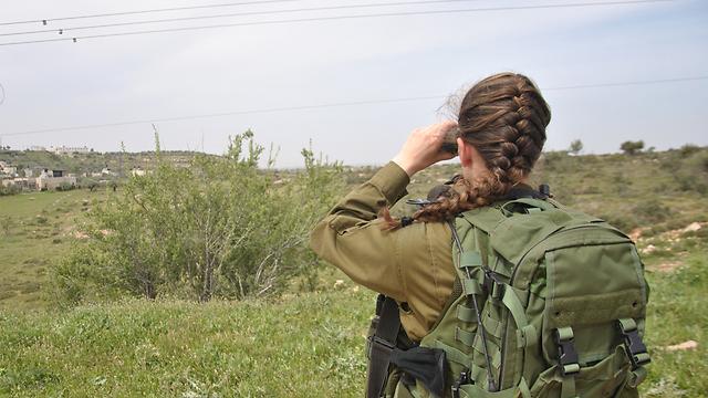 קצינת מבצעים קרבית (ארכיון) (צילום: עפר מאיר)