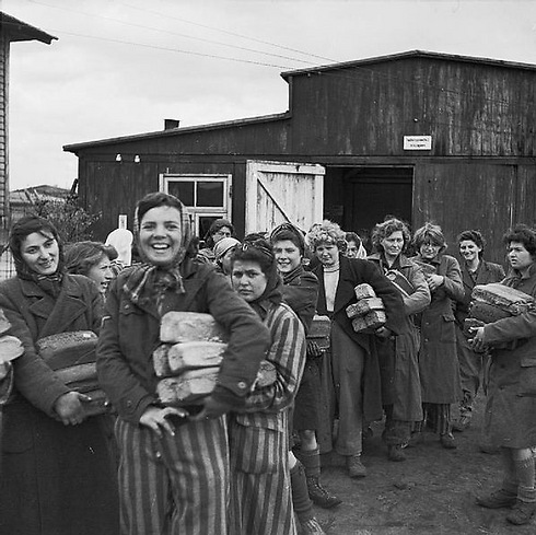 The liberation of Bergen Belsen in April 1945, shortly after the deaths of Margot and Anne Frank