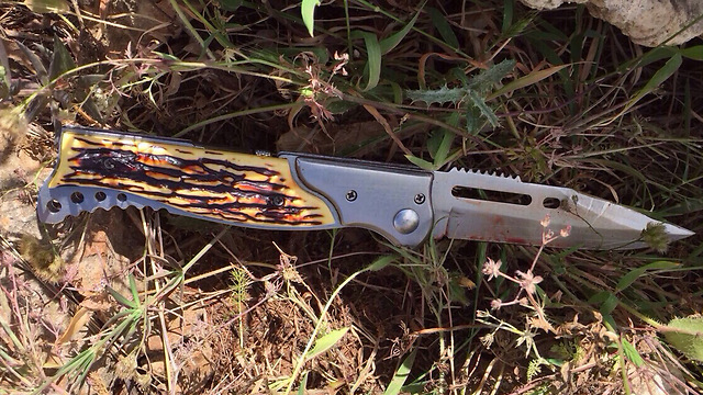 Knife used by Palestinian illegal alien (Photo: IDF Spokesperson's Unit) (Photo: IDF Spokesperson's Unit)