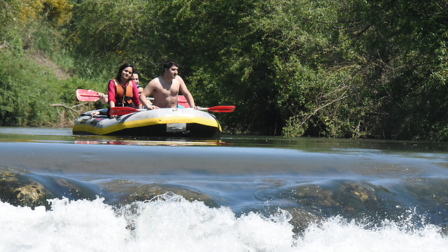 Kayaking on the River Jordan (Photo: Avihu Shapira)