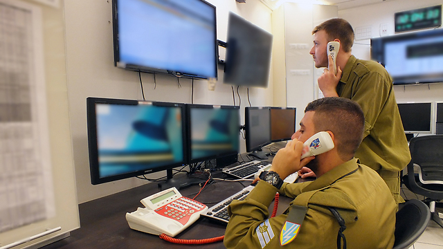 Operations room at a satellite facility (Photo: IDF Spokesman Unit)
