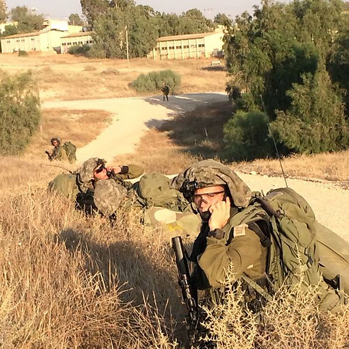 Shir on field. (Photo: IDF Spokesman's Unit)