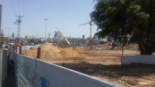 Infrastructure work done on Shaul HaMelech Boulevard (Photo: Gilad Morag)