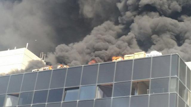 השריפה ברחוב המסגר בתל אביב ()