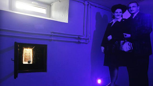 The basement of a villa on the grounds of the Warsaw Zoo where dozens of Jews were sheltered during World War II (Photo: AP)