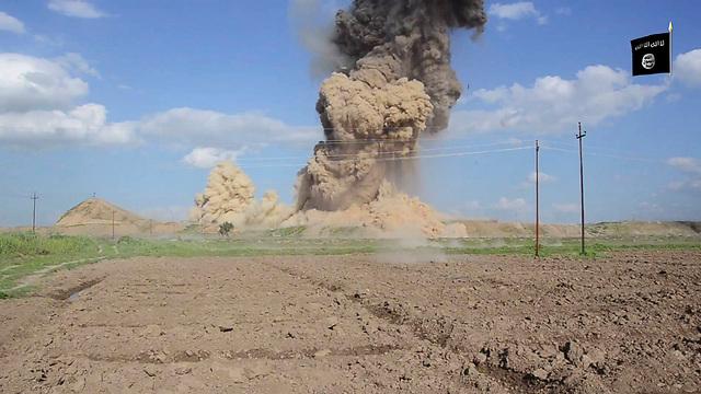 Massive explosion destroying part of the site (Photo: AP)