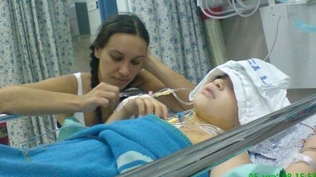 ליעוז בתקופת הטיפולים בבית החולים  ()