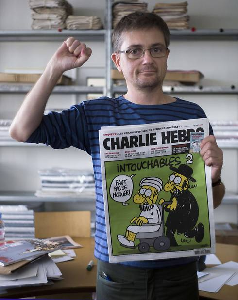 """עורך שארלי הבדו שנרצח בטבח בפריז ב-2015, שארב סטפן. """"עוד הרבה דם יישפך"""" (צילום: AFP)"""
