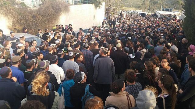 Sharki's funeral in Jerusalem (Photo: Barel Efraim)