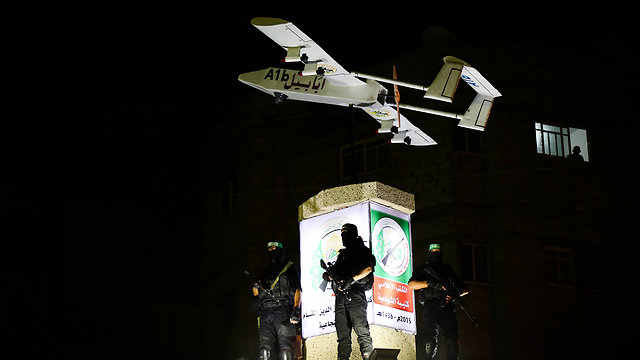 A Hamas drone on display in Gaza (Photo: MCT)