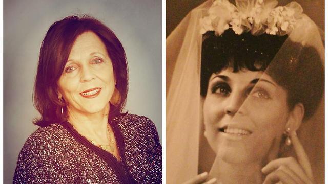 זיוה בקמן ככלה בנישואה הראשונים ליגאל. והיום כרעיה, אם וסבתא גאה (באדיבות:זיוה בקמן-פלמהפט)