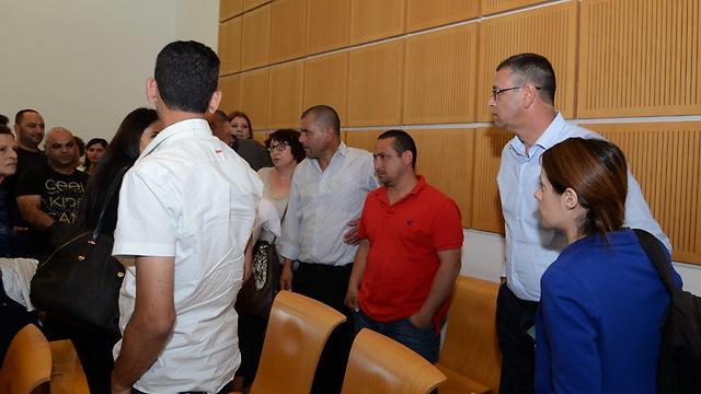 דיון בבית המשפט המחוזי בבאר שבע על סגירת מפעל אקסטרא פלסטיק, היום (צילום: הרצל יוסף) (צילום: הרצל יוסף)