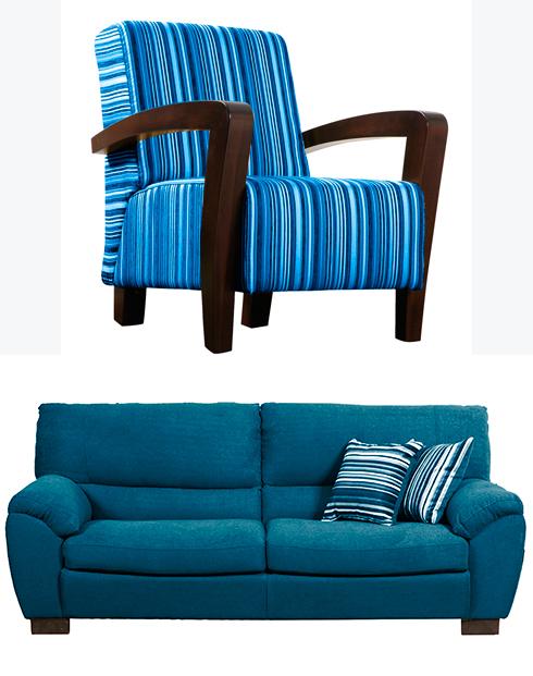 כורסאות בכחול-לבן של שמרת הזורע (צילום: עדי מיזן) (צילום: עדי מיזן)