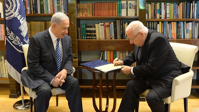 Назначение Биньямина Нетаниягу премьер-министром Израиля. 2015 год. Фото: Амос Бен-Гершом, ЛААМ