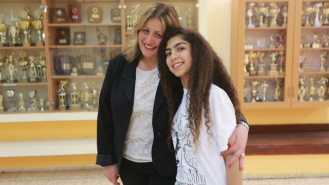 Ruzhin from Iran with Principle Levy. (Photo: Yaron Brenner)