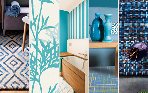 חללים מעוצבים בכחול-לבן של רשת כרמל Floor Design  ()