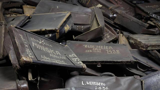 Jews' luggage at Auschwitz (Photo: Reuters)