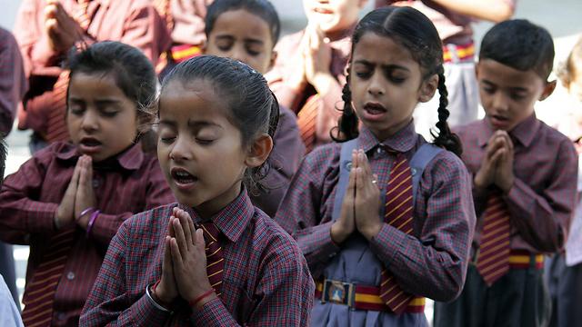 ילדות בהודו. ארכיון (צילום: EPA) (צילום: EPA)