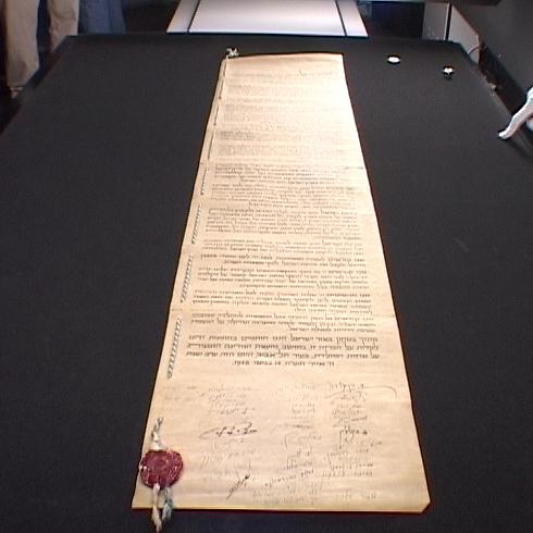 """""""נס שכל כך הרבה יהודים הסכימו לחתום על מסמך אחד"""" (צילום: שי רוזנצוויג) (צילום: שי רוזנצוויג)"""