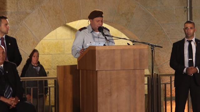 IDF Chief of Staff Lt.-Gen. Gadi Eizenkot at official memorial (Photo: Gil Yohanan)