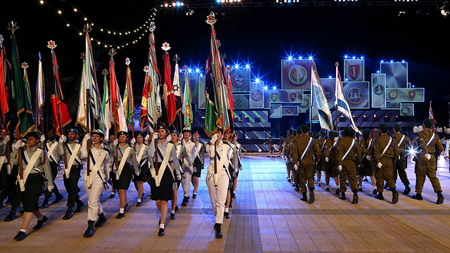 IDF flag bearers commanded by Col. (res.) David Rokani (Photo: Amit Shabi)