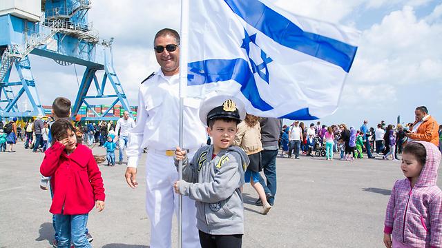 Independence Day celebrations at the Navy base in Ashkelon (Photo: Omri Maymon)