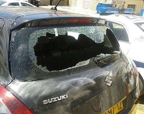 Damage caused to officer's car