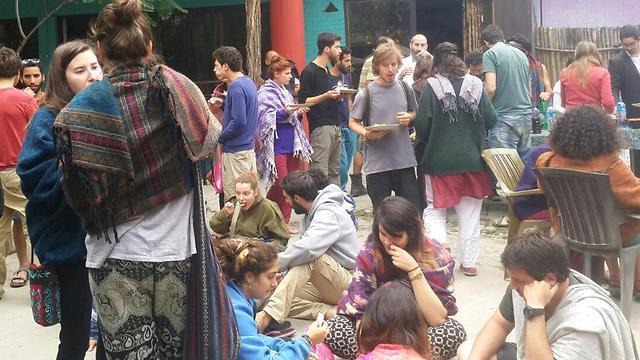 Israelis at the Chabad House in Kathmandu (Courtesy)