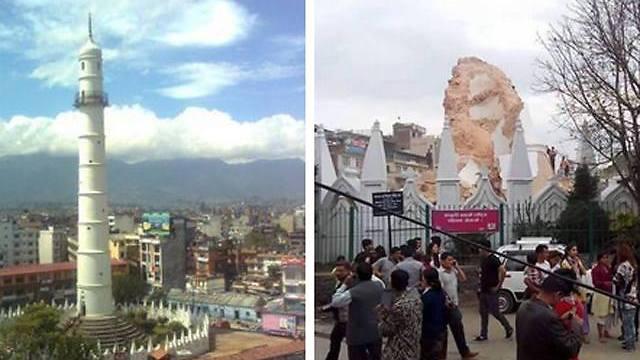 לפני ואחרי (צילום: AFP) (צילום: AFP)