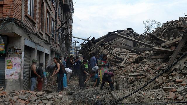 ההרס בקטמנדו  (צילום: AFP) (צילום: AFP)