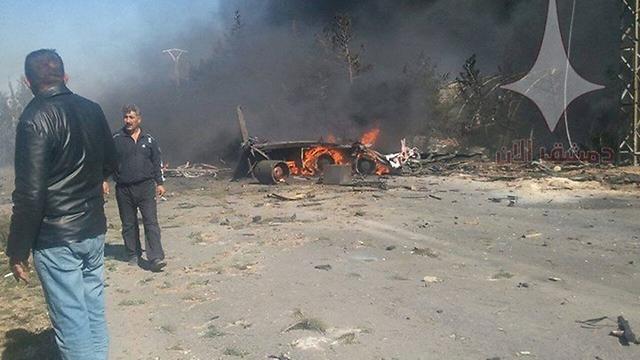 Site of Saturday strike attributed to Israel